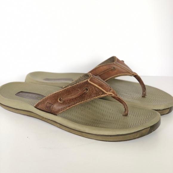 b410884fa8d Sperry Top Slider Santa Cruz Men s flip flop 14. M 5ac9687d9d20f038ce69e12b